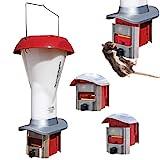 Rattensicherer Geflügel-Futterspender mit Schädlingsabwehr - Geflügel-Futterspender sicher vor Ratten und Großvögeln - Wetterfest - 4 l / 3,6 kg - Brandneu