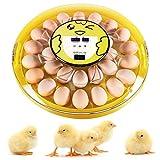 Oudannei 30 Ei Inkubator Vollautomatische Brutmaschine Motorbrüter Brutgerät Brutapparat für Hühner und Wachteln, mit Temperaturanzeige, Automatische Wender, Feuchtigkeits