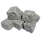 AUPROTEC Granit Pflastersteine Naturstein 9/11 grau DIN EN 1342: 50 Steine (ca. 0,5 m²)