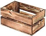 LAUBLUST Vintage Holzkiste Klein - Geflammt   Aufbewahrungskiste aus Holz - Geschenkkiste & Deko   ca. 30x20x15cm - M