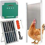 Agrarzone automatische Solar Hühnertür Hühnerklappe mit Schieber 30 x 40 cm   Türöffner Hühnerstall mit Zeitschaltuhr & Lichtsensor   230V, Batterie & Solar   Hühnerstall-Tür für sichere Hühnerhaltung