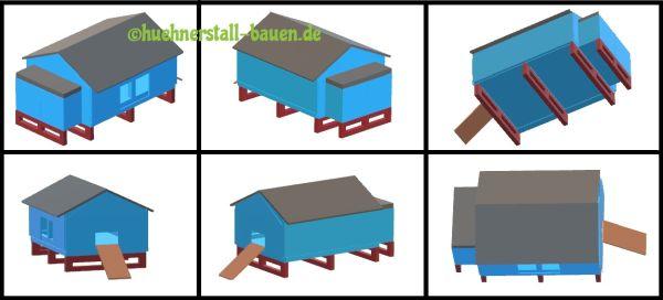Hühnerstall bauen Musterhaus