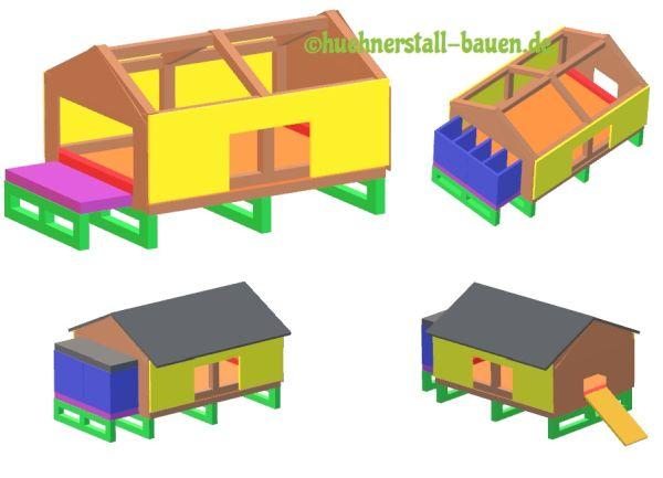 Bauanleitung Legenest Dach