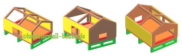 Hühnerstall selber bauen Bauplan