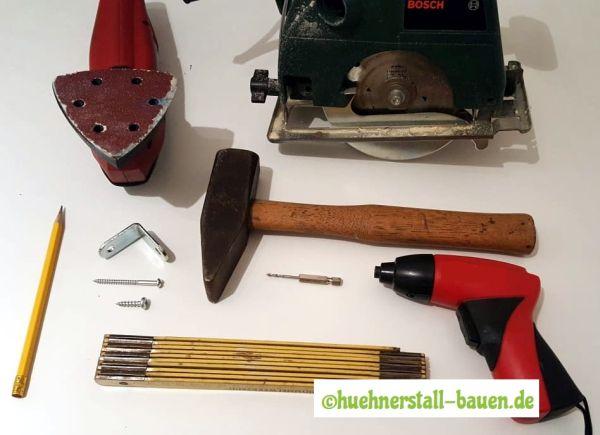 Legenest selber bauen Werkzeuge